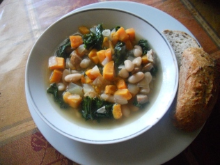 Sausage, White Bean, and Kale Soup