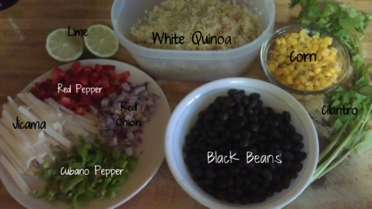 Southwestern Quinoa Ingredients