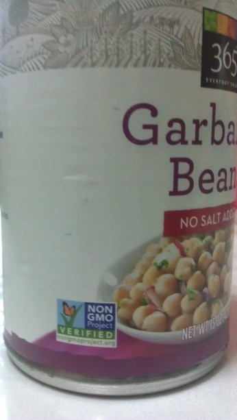 Try to find chickpeas that have this Non-GMO certified label here to ensure you're getting the best quality beans.