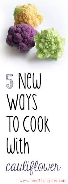 Cauliflower is such a versatile (and healthy!) vegetable. Here are some new ways to enjoy them in your next meal.