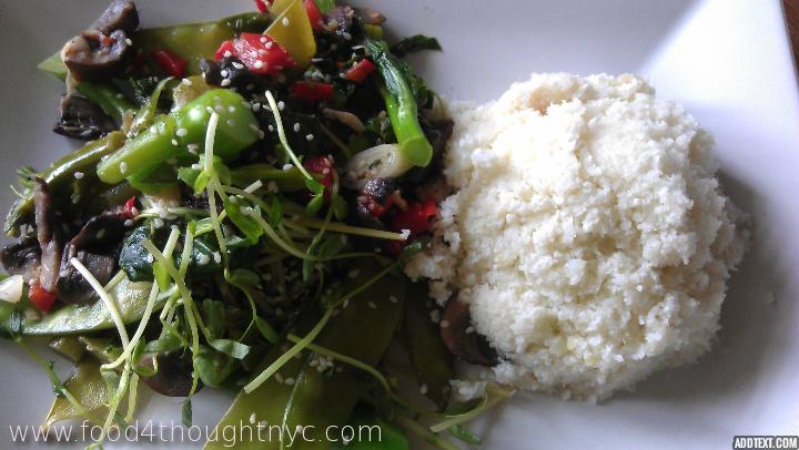 stir fry with cauliflower rice