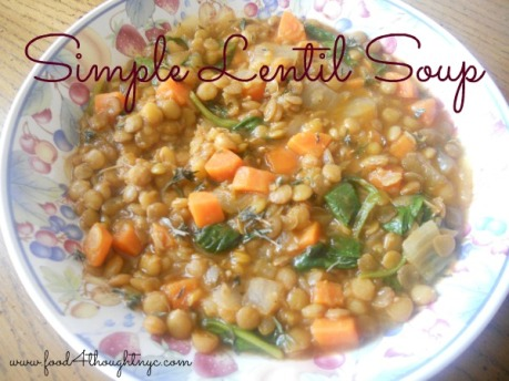 Perfect lentil soup that's easy to make and easy on the wallet.
