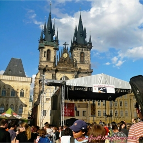 The crowds in Old Town Square, Prague 2009