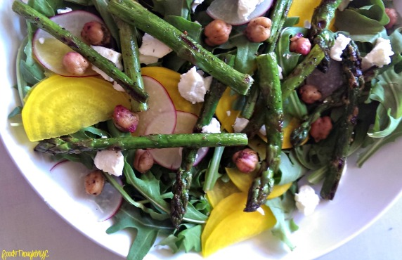 Golden Beet & Radish Salad with Pan-Seared Asparagus