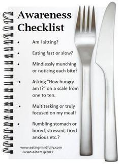 awareness checklist