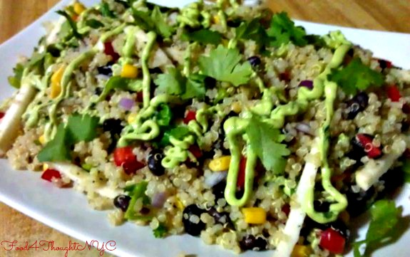 Southwestern Quinoa Salad with Greek Yogurt Avocado Dressing