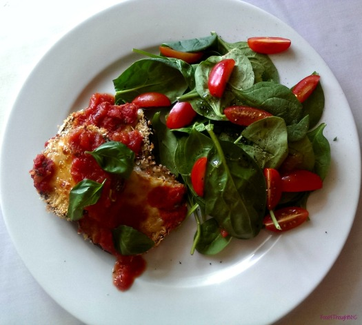 Baked Eggplant Parmesan with Homemade Tomato Sauce- Meatless Monday